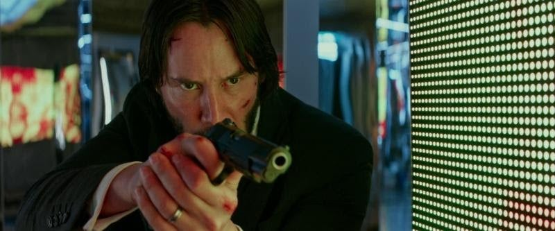 Keanu Reeves with a Kimber Warrior. Kimber headquarters has moved to Troy, Alabama.