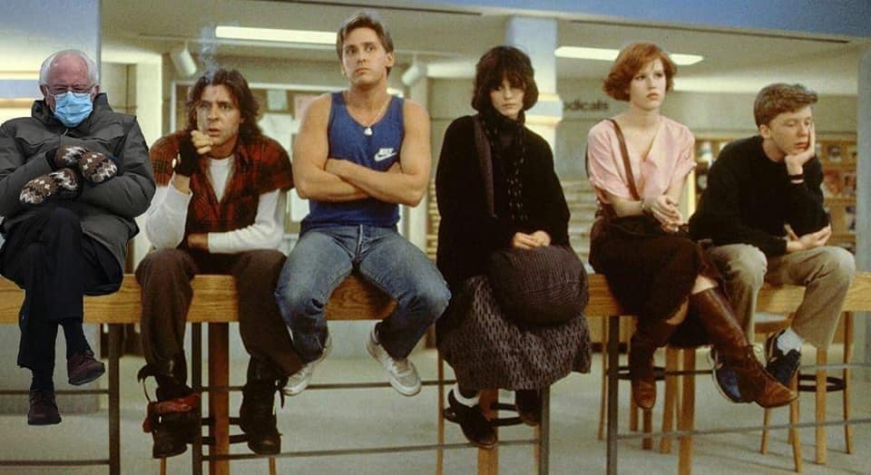 Bernie Sanders photoshopped into the Breakfast Club movie
