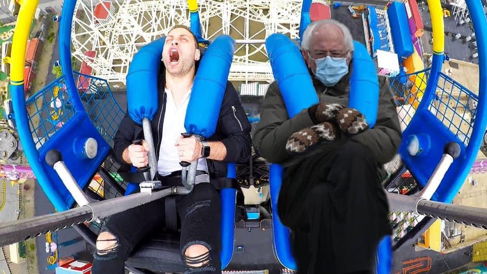 Bernie Sanders in a roller coaster