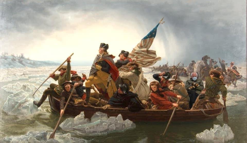 Bernie photoshopped into an old painting