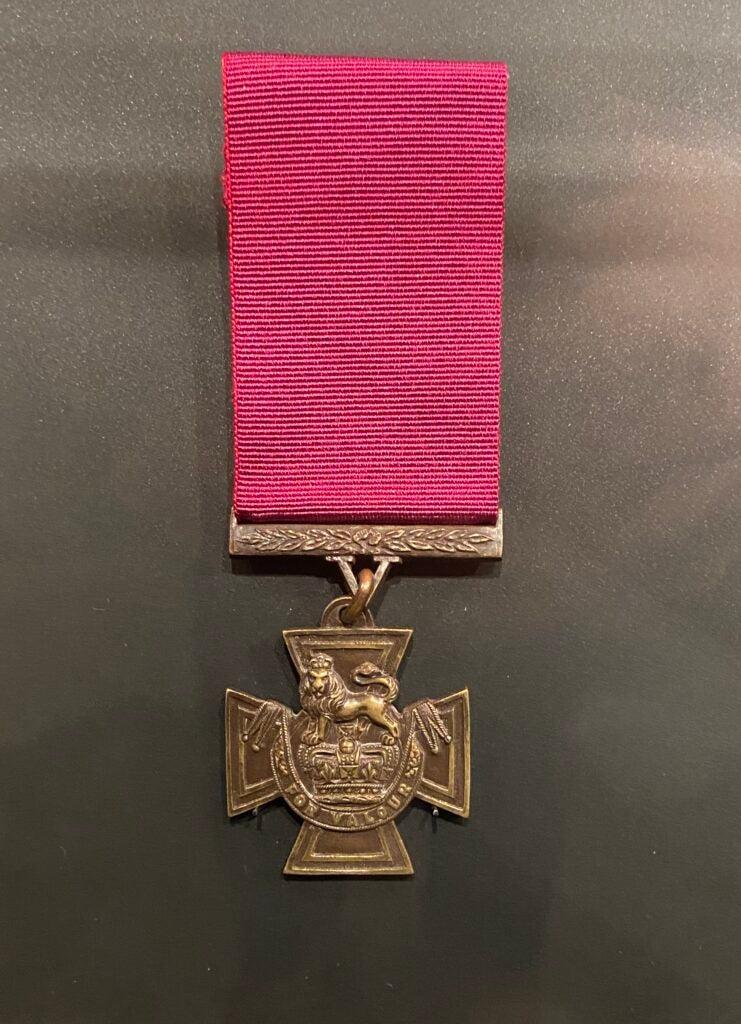 The prestigious Victoria Cross award.