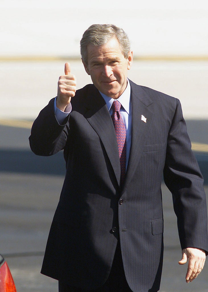 Former President George became a politician after leaving the Air Force Bush