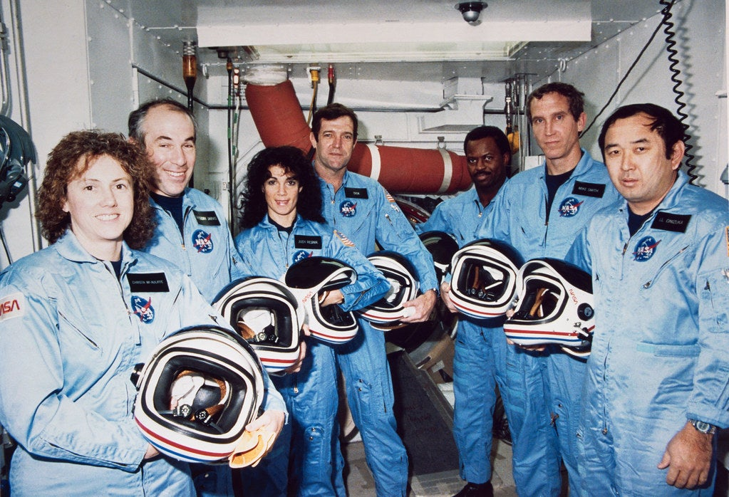 The crew of the Challenger shuttle
