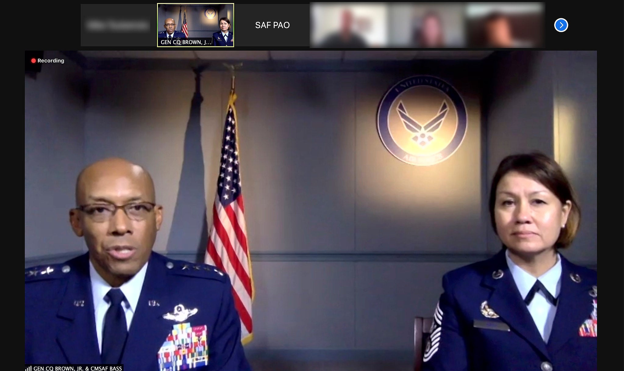 air force officials setting the new evaluation standards