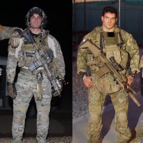 Now retired army sergeants Jason and Kevin Droddy. Photo provided by Fox Nation.