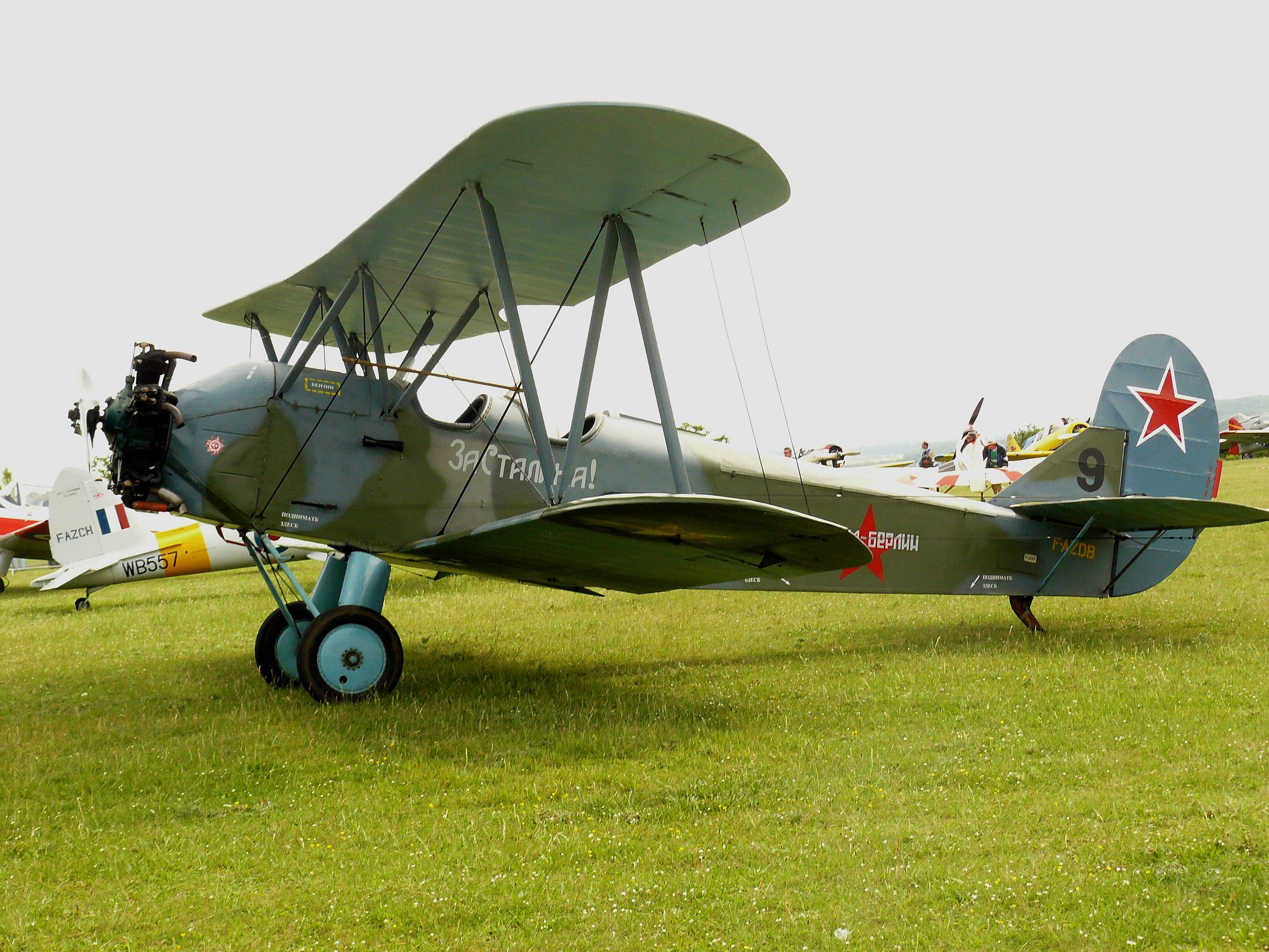 A Polikarpov-2, or Po-2, the kind of plane flown by the night witches