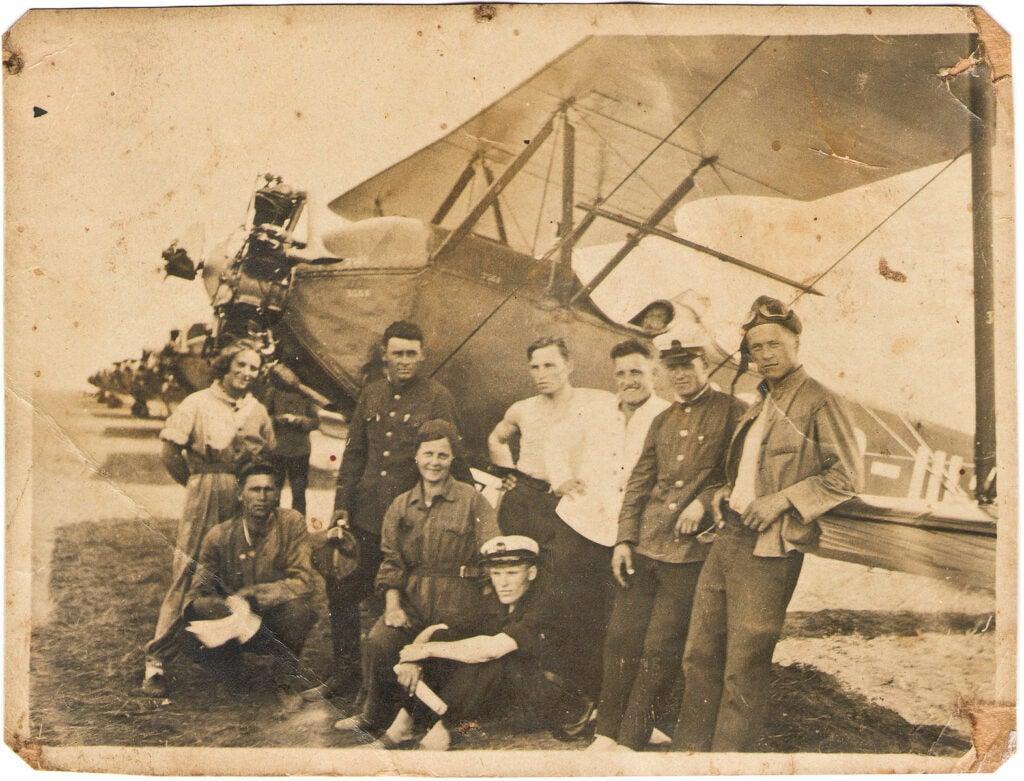 biplane from korean war