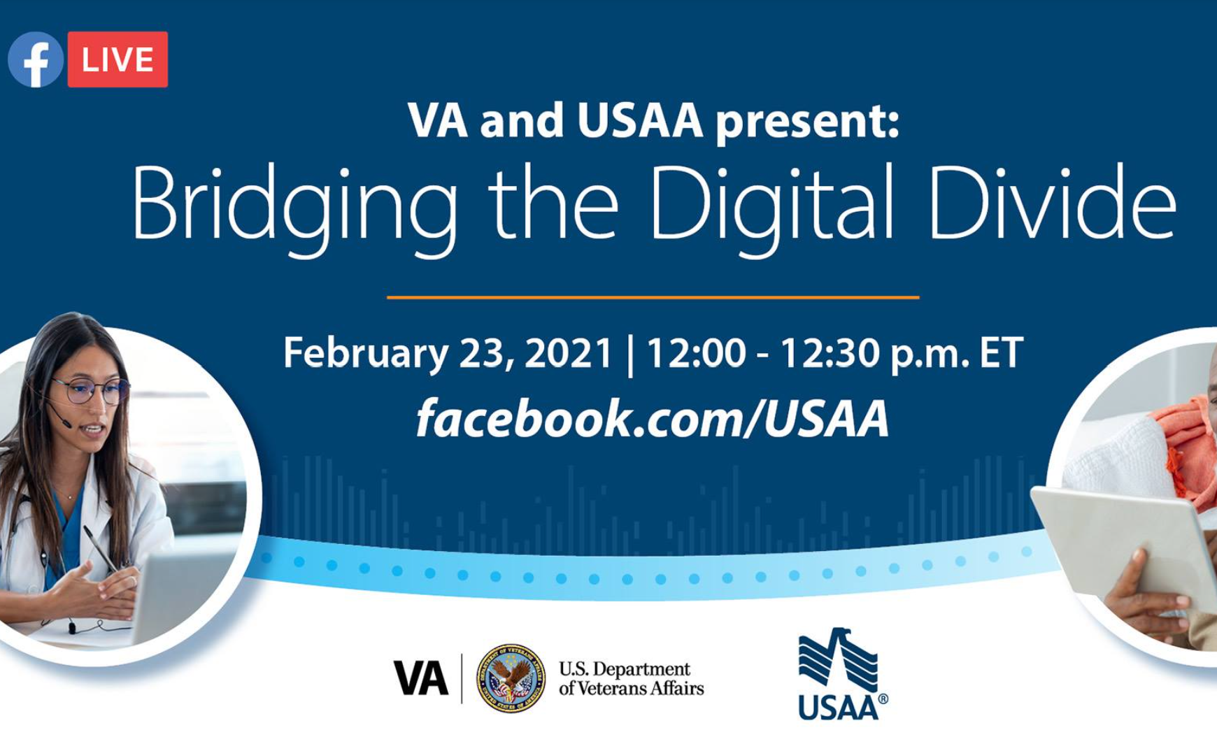 USAA telehealth event flyer