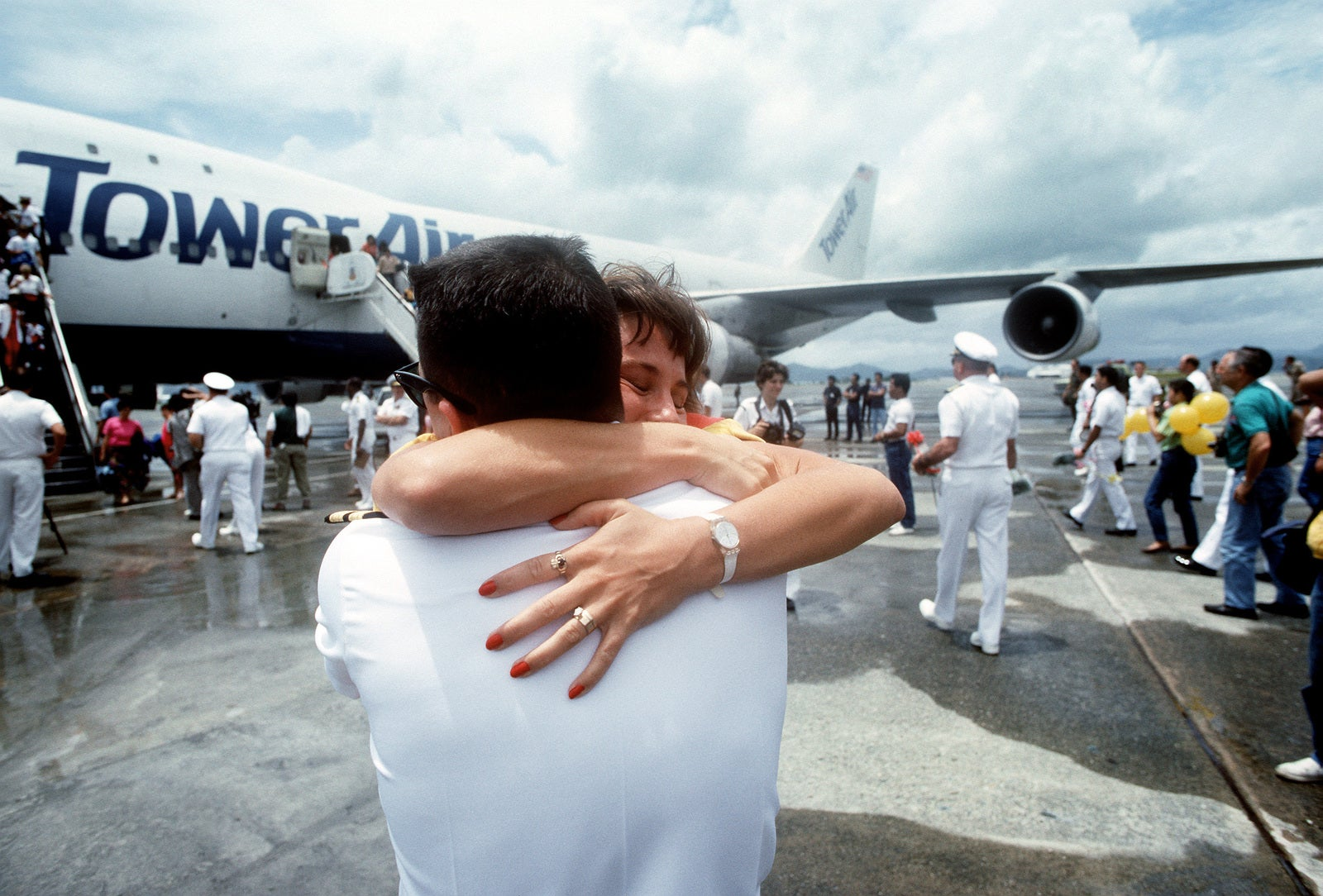 Military love story- A couple reuniting
