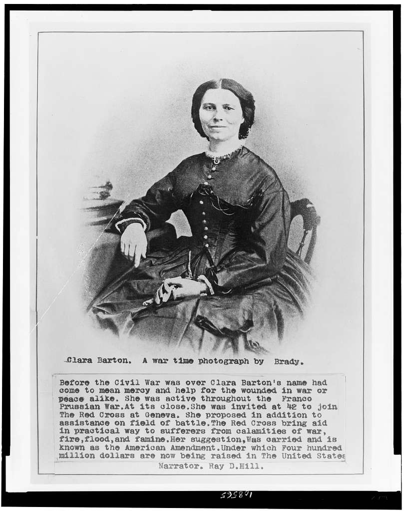 Clara Barton, one of the most renowned military nurses