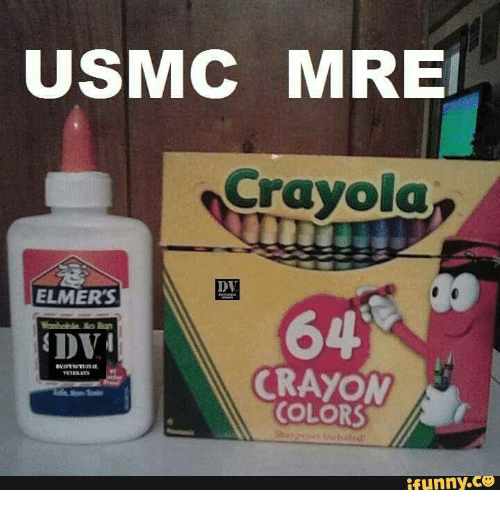 dumb marine stereotype eating crayons