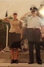 Martine Caraballo with her father, a Vietnam Vet.
