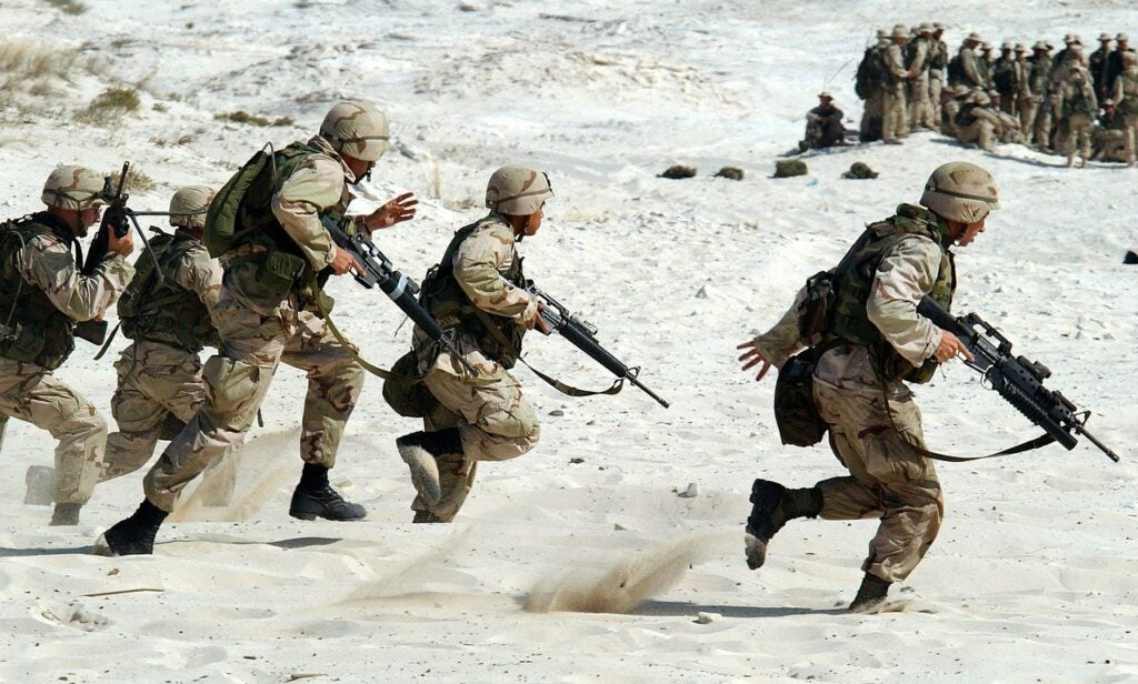 military service members exercising