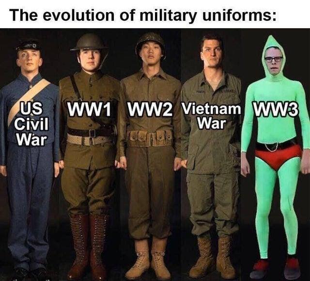 military uniform meme