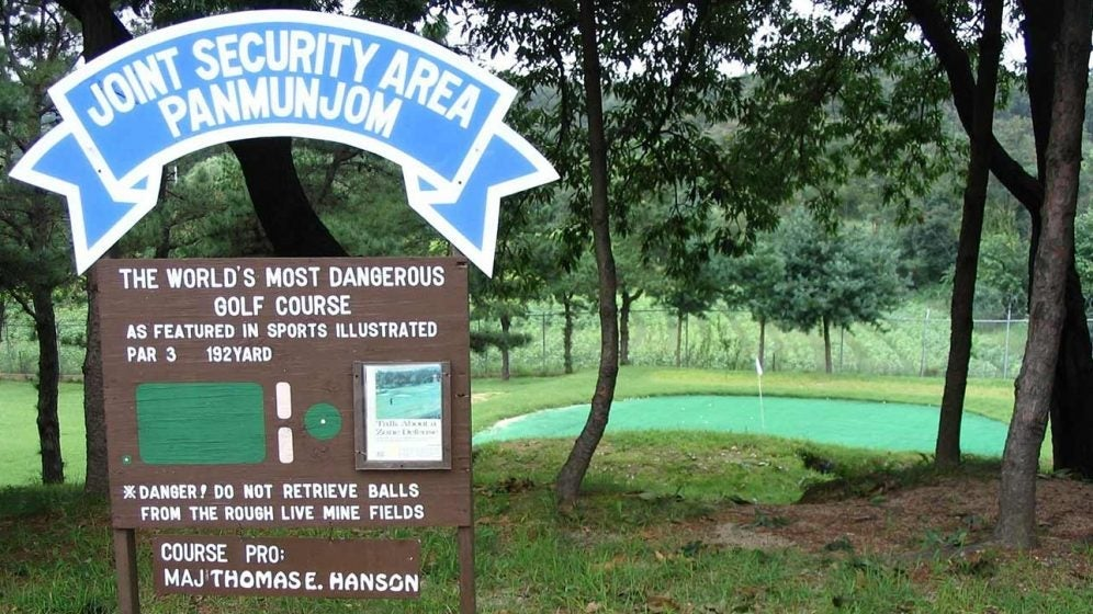 golf course near Korean DMZ