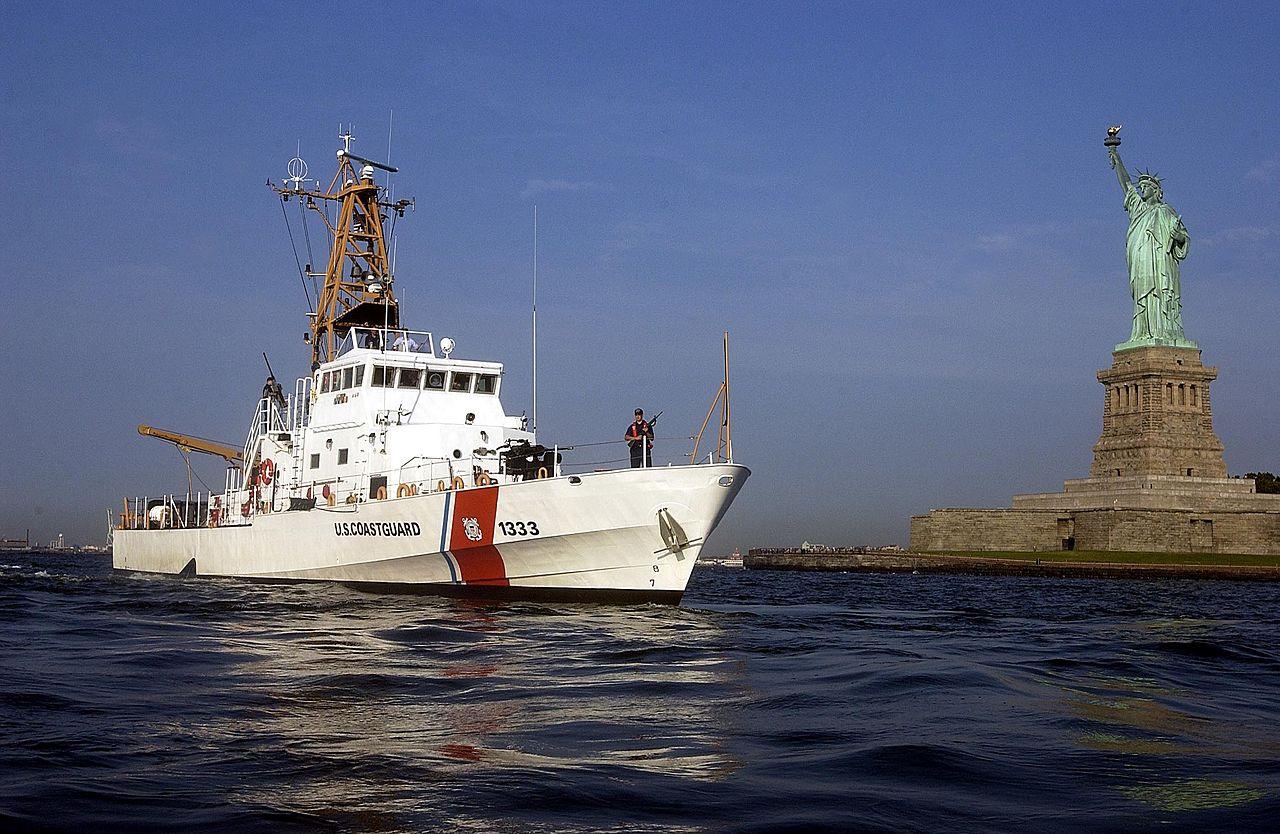 Adak stands watch over New York Harbor (U.S. Coast Guard)