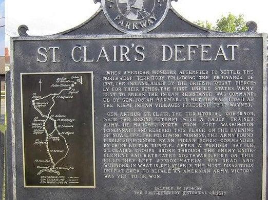 St. Clair's Defeat commemorative plaque