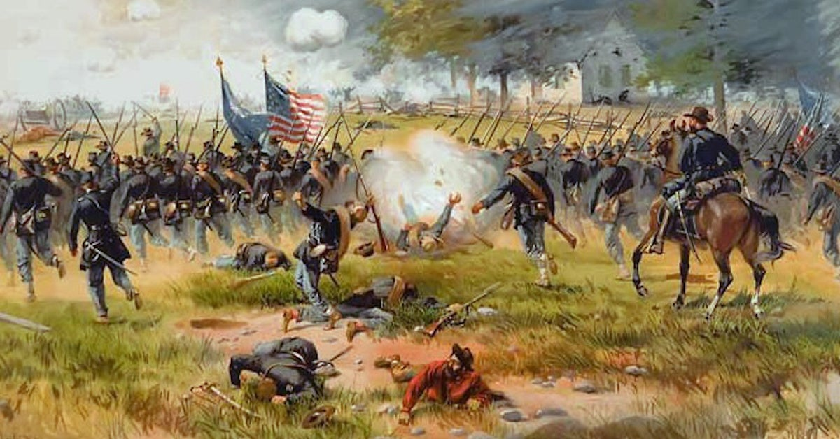 Battle of Antietam civil war painting