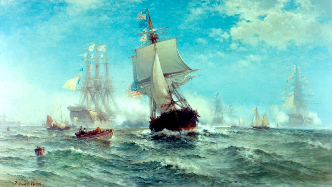 Painting of John Paul Jones' ship