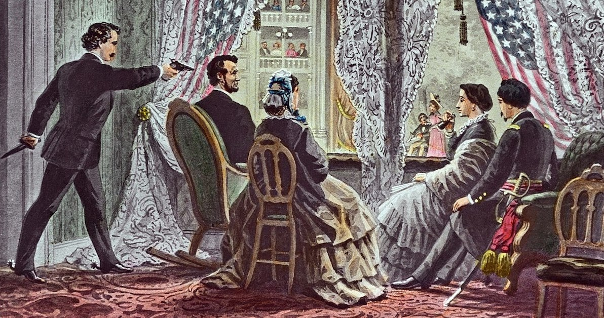 Painting of President Lincoln's private box at Ford's Theatre