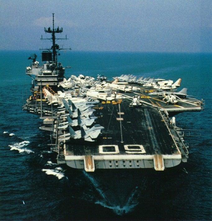 A Navy F-14 Tomcat once shot down an Air Force RF-4C Phantom