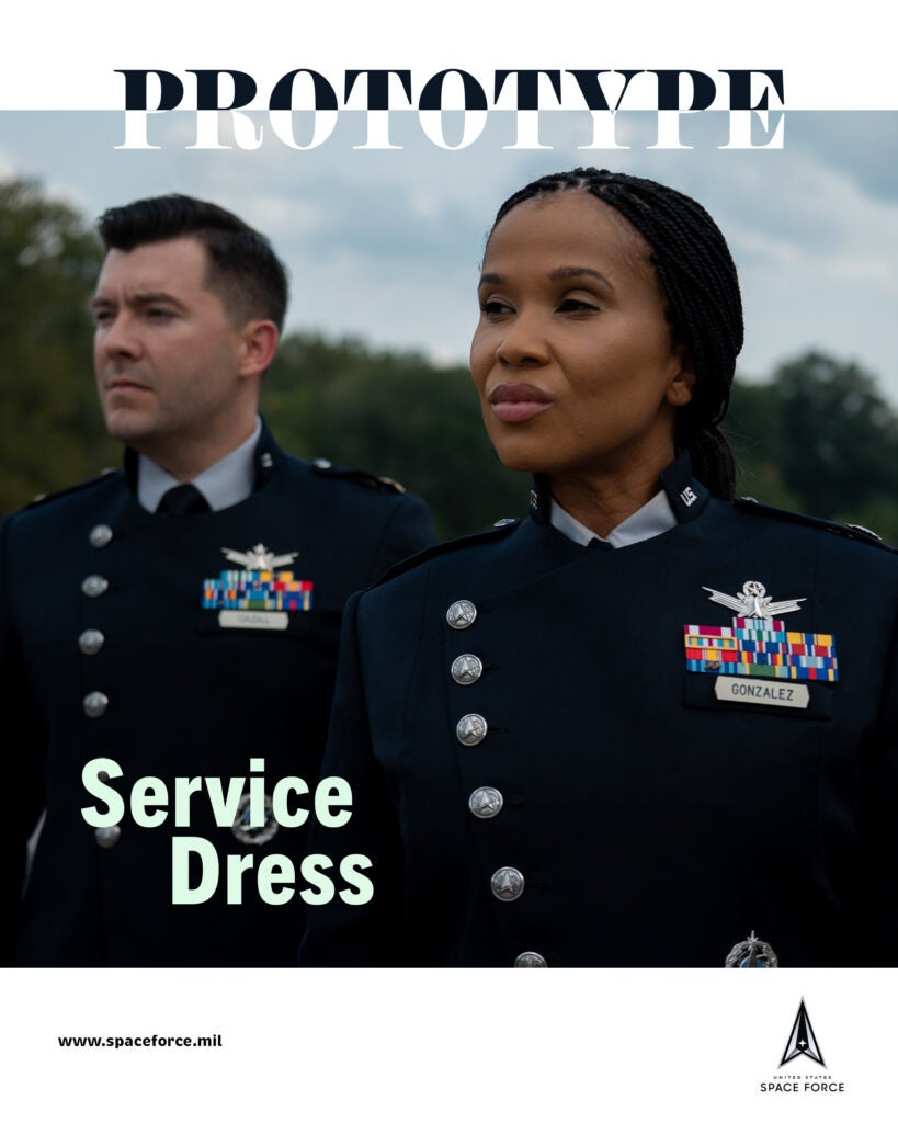 The Space Force released their PT and service dress uniforms and they're out of this world