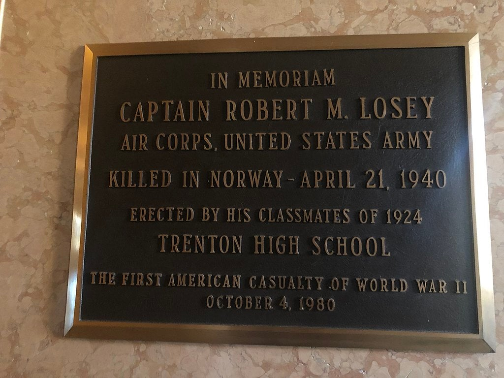 The first American killed in World War II died in Norway