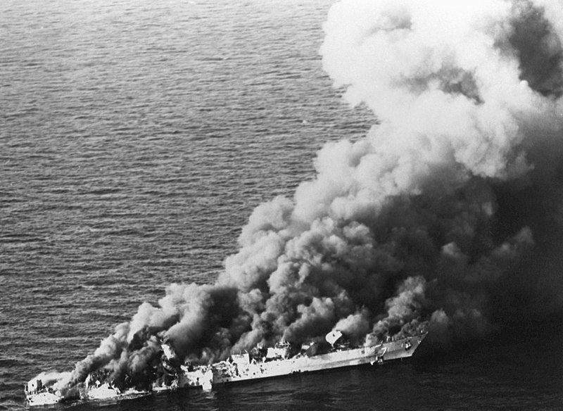 This was the last enemy ship sunk by the US Navy in combat