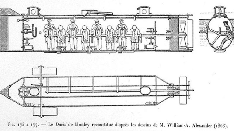 Today in military history: World's first combat submarine sinks