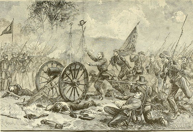 What happened when two Civil War flag bearers fought each other