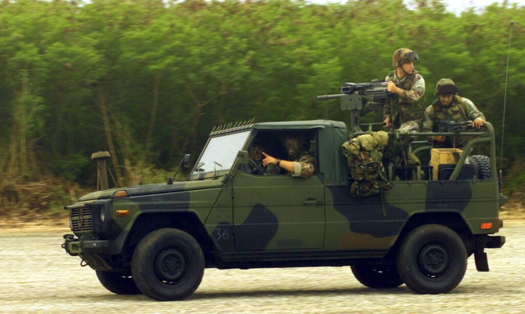The Marine Corps used to drive Mercedes-Benz G-Classes
