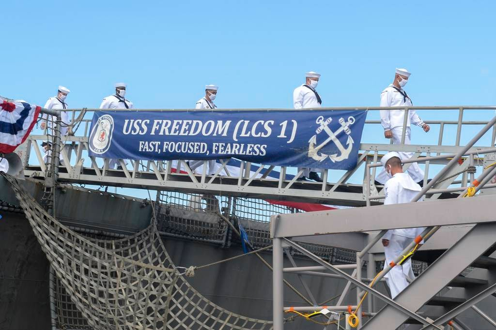 The Navy decommissioned Littoral Combat Ship USS Freedom after 13 years