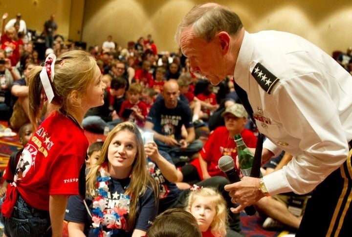 Here's how a little girl who lost her Marine dad taught the Chairman of the Joint Chiefs of Staff the full cost of war