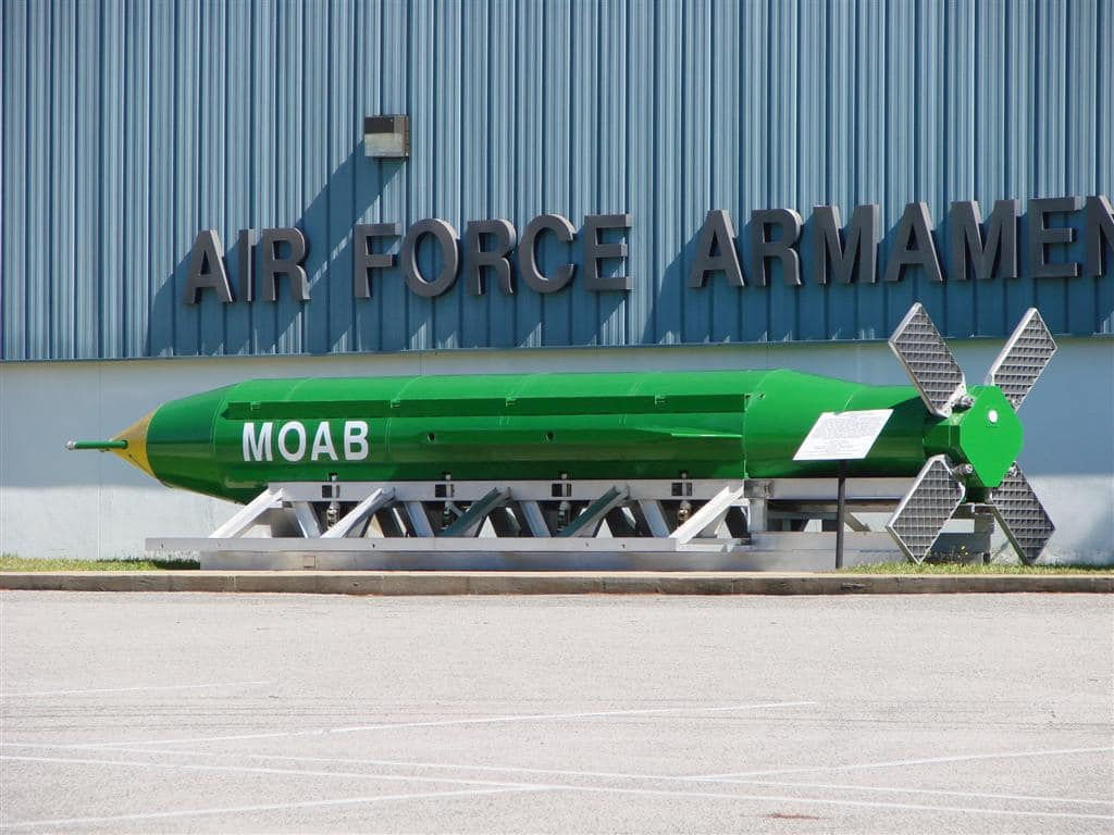 The GBU-43 MOAB makes its combat debut