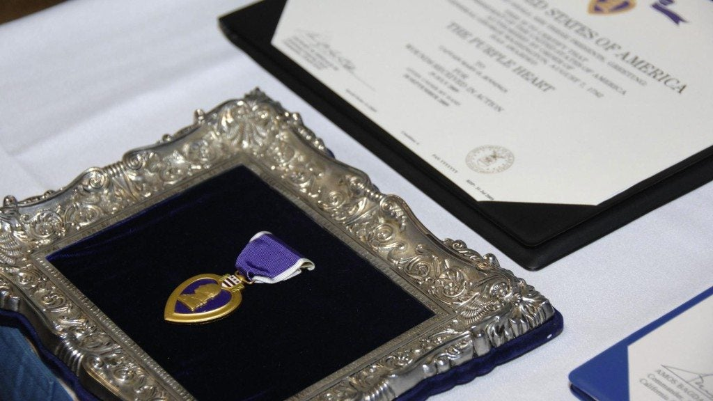 WWII veteran receives long overdue Purple Heart