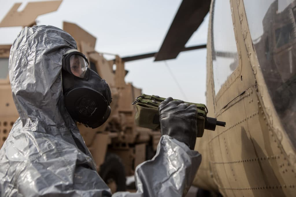 Islamic State terrorists launched a chemical attack in Mosul