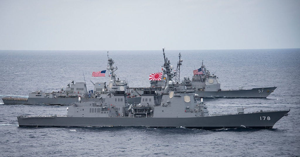 US cruiser collides with South Korean fishing boat