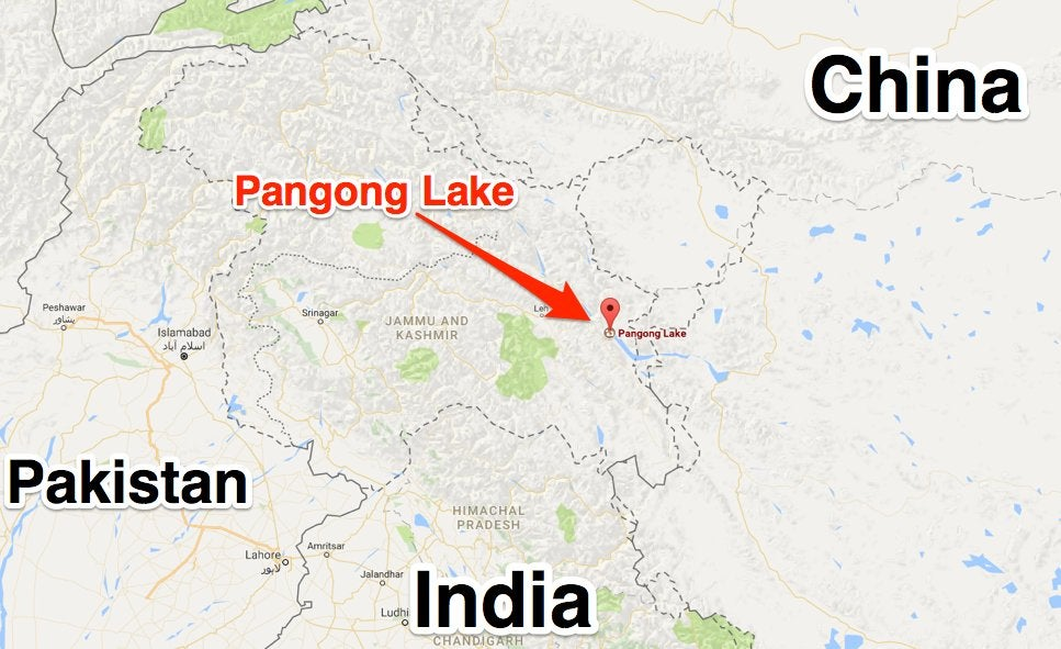 Video shows Chinese and Indian troops throwing rocks at each other on the border