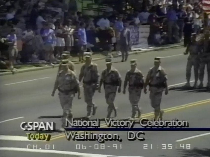 What America's last military parade looked like