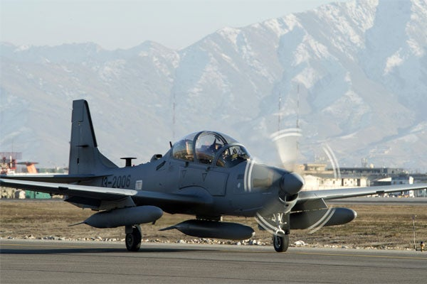 A-29 Super Tucano attack aircraft see first action in Afghanistan