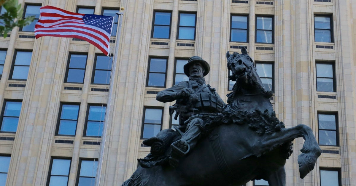 This is the debunking of the military horse statue myth