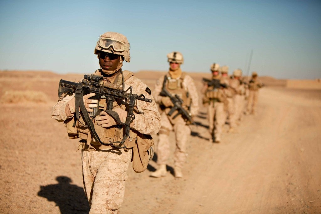 Here's what a Navy corpsman does when a Marine is hit