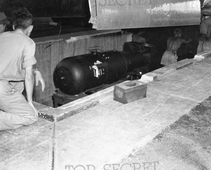 Declassified photos show the US's final preparations for the only nuclear weapons attacks in history