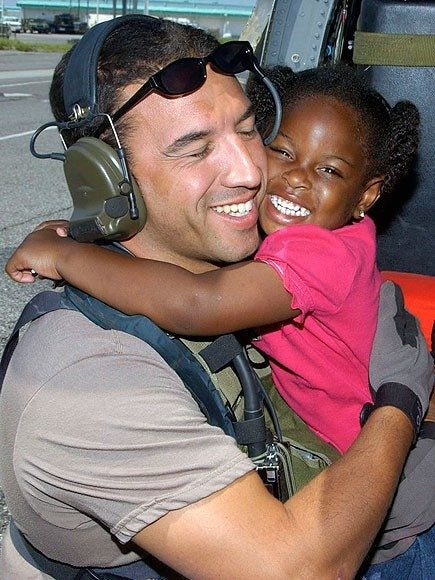 Air Force Pararescue Jumper reunites with girl he saved after Hurricane Katrina
