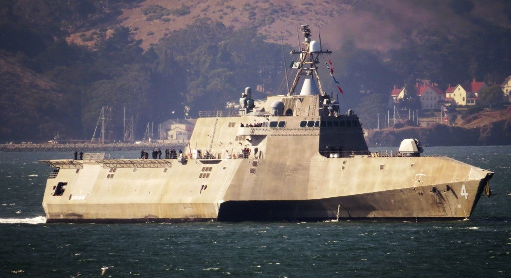 Navy's Littoral Combat Ship destroys swarming boat attack in test