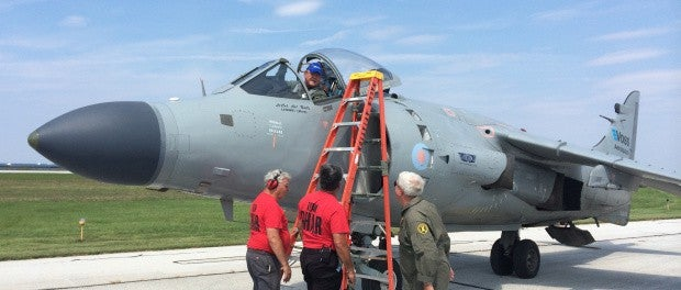 World's only civilian-owned Harrier will join Syracuse Airshow to honor fallen Blue Angel pilot