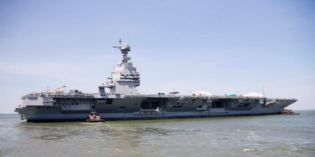 This is why there are no urinals on the Navy's newest supercarrier