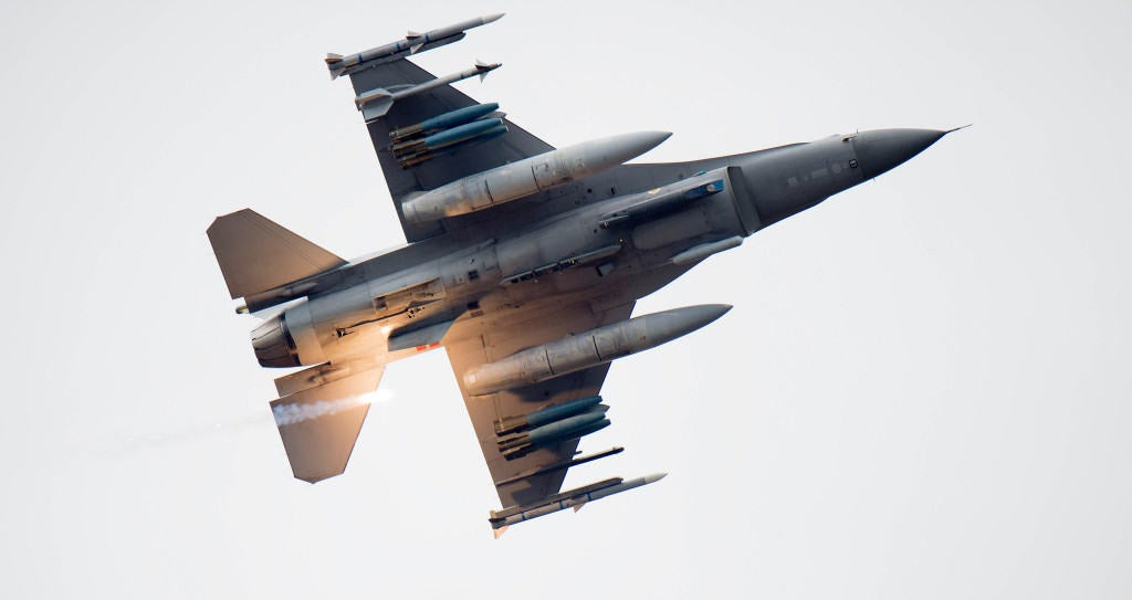 The F-16 could transition to an unmanned aerial asset
