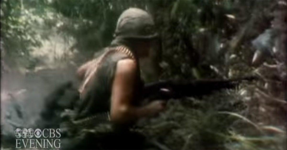 That time CBS captured an intense firefight in Vietnam