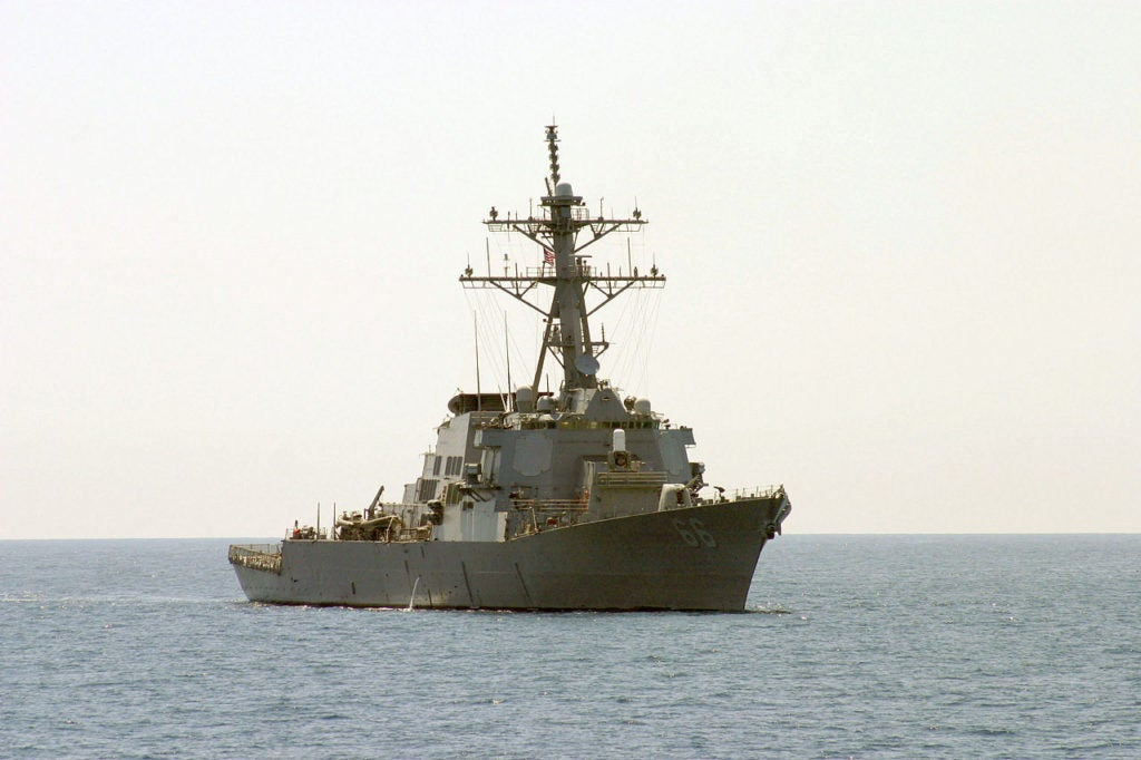 Watch this huge guided missile destroyer turn on a dime